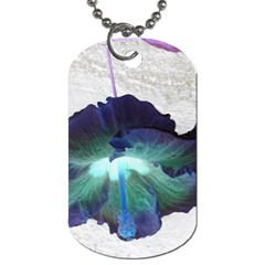 Exotic Hybiscus   Single Sided Dog Tag