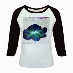 Exotic Hybiscus   Long Sleeve Raglan Womens'' T Shirt
