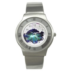 Exotic Hybiscus   Stainless Steel Watch (Round)