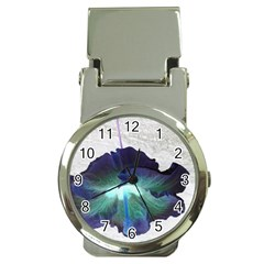 Exotic Hybiscus   Chrome Money Clip With Watch