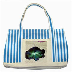 Exotic Hybiscus   Blue Striped Tote Bag