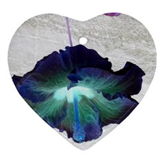 Exotic Hybiscus   Heart Ornament (Two Sides)