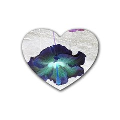 Exotic Hybiscus   4 Pack Rubber Drinks Coaster (Heart)