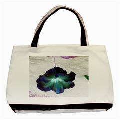 Exotic Hybiscus   Twin Sided Black Tote Bag