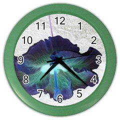 Exotic Hybiscus   Colored Wall Clock