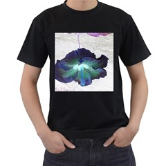 Exotic Hybiscus   Black Mens'' T-shirt