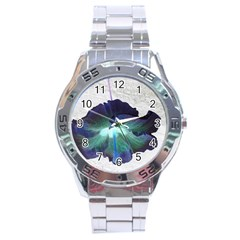 Exotic Hybiscus   Stainless Steel Analogue Watch (Round)