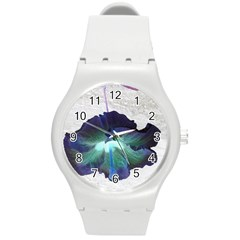 Exotic Hybiscus   Round Plastic Sport Watch Medium