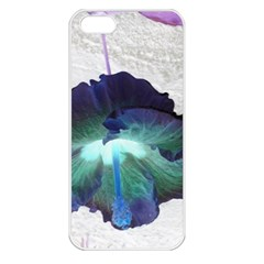 Exotic Hybiscus   Apple iPhone 5 Seamless Case (White)