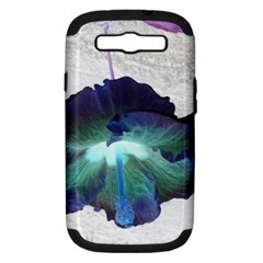 Exotic Hybiscus   Samsung Galaxy S Iii Hardshell Case (pc+silicone)