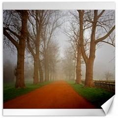 Foggy morning, Oxford 20  x 20  Unframed Canvas Print