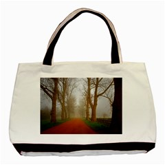 Foggy morning, Oxford Twin-sided Black Tote Bag