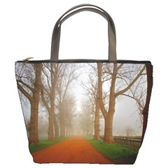 Foggy Morning, Oxford Bucket Handbag