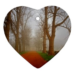 Foggy Morning, Oxford Ceramic Ornament (heart)