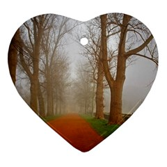 Foggy morning, Oxford Heart Ornament (Two Sides)