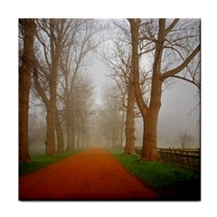 Foggy morning, Oxford Face Towel