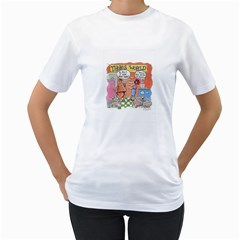 Thong World White Womens  T-shirt