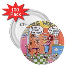 Thong World 100 Pack Regular Button (Round)