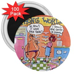 Thong World 100 Pack Large Magnet (round)