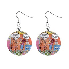 Thong World Mini Button Earrings