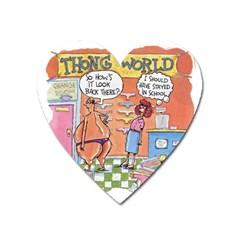 Thong World Large Sticker Magnet (Heart)