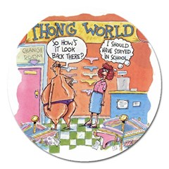 Thong World Extra Large Sticker Magnet (Round)