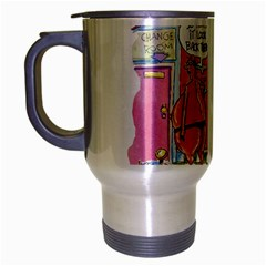 Thong World Brushed Chrome Travel Mug
