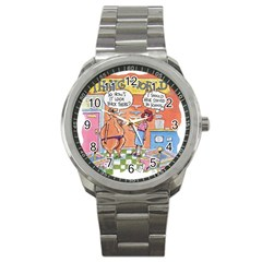 Thong World Stainless Steel Sports Watch (Round)