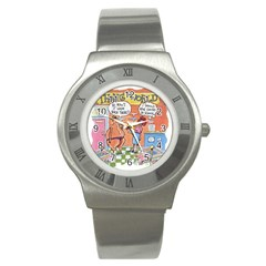 Thong World Stainless Steel Watch (round)