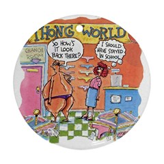 Thong World Twin-sided Ceramic Ornament (Round)