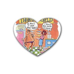 Thong World 4 Pack Rubber Drinks Coaster (heart)