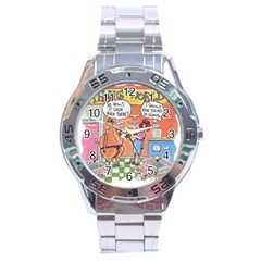 Thong World Stainless Steel Analogue Watch (round)