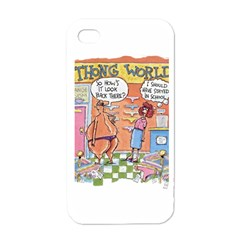 Thong World White Apple iPhone 4 Case