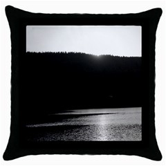 Waterscape, Oslo Black Throw Pillow Case