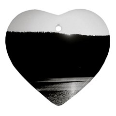 Waterscape, Oslo Heart Ornament (Two Sides)