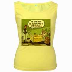 The Good News Is ... Yellow Womens  Tank Top