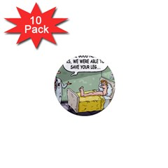The Good News Is     10 Pack Mini Magnet (round)