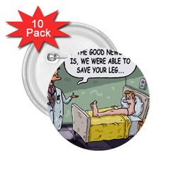 The Good News Is ... 10 Pack Regular Button (Round)