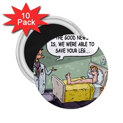 The Good News Is     10 Pack Regular Magnet (round)