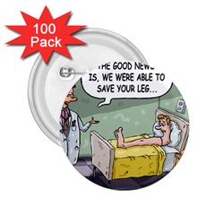 The Good News Is     100 Pack Regular Button (round)