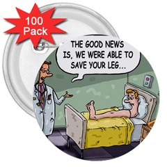 The Good News Is ... 100 Pack Large Button (Round)