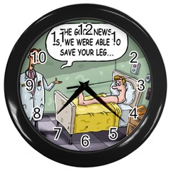 The Good News Is ... Black Wall Clock