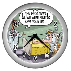 The Good News Is ... Silver Wall Clock