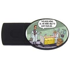The Good News Is ... 2Gb USB Flash Drive (Oval)