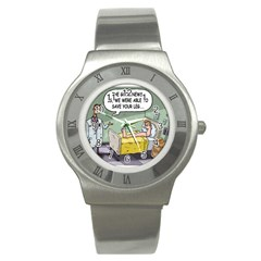 The Good News Is     Stainless Steel Watch (round)