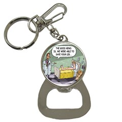 The Good News Is ... Key Chain with Bottle Opener