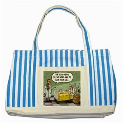 The Good News Is ... Blue Striped Tote Bag