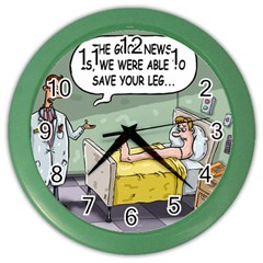 The Good News Is     Colored Wall Clock