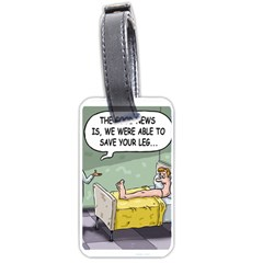 The Good News Is     Twin Sided Luggage Tag