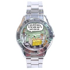 The Good News Is     Stainless Steel Analogue Watch (round)